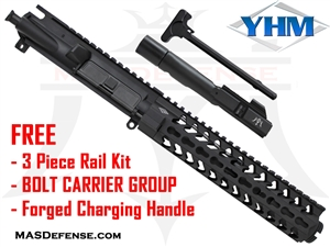 "7.5"" 9MM BARRELED UPPER - YANKEE HILL 9.29"" S.L.K. KEYMOD SERIES - YHM-5240  ***FREE BCG - CHARGING HANDLE - 3 PIECE RAIL KIT"