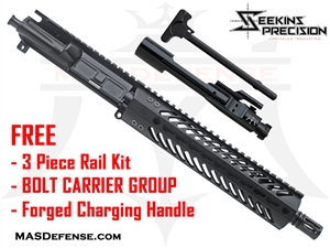 "10.5"" 5.56 / .223 BARRELED UPPER - SEEKINS MCSR V2 9"" ***FREE BCG - CHARGING HANDLE - 3 PIECE RAIL KIT"