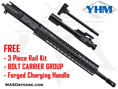 "16"" 300 BLACKOUT BARRELED UPPER - YANKEE HILL 12.6"" KR7 ***FREE BCG - CHARGING HANDLE - 3 PIECE RAIL KIT"