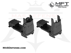 MISSION FIRST TACTICAL FLIP-UP FRONT & REAR SIGHT SET - BUPSWF BUPSWR