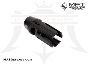 MISSION FIRST TACTICAL EVOLV 4 PRONG SIDE PORT MUZZLE BRAKE/COMPENSATOR HYBRID MFT - E2ARMD3