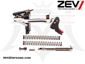 ZEV FULCRUM ADJUSTABLE TRIGGER ULTIMATE KIT FOR GLOCK GEN 1-3 .40S&W - FUL-ULT-40-B-R