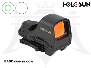 HOLOSUN ELITE GREEN REFLEX CIRCLE / DOT SIGHT - SOLAR - QD MOUNT - HE510C-GR