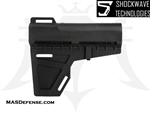 AR-15 SHOCKWAVE BLADE PISTOL STABILIZER ARM BRACE - BLACK - KIT OPTIONS AVAILABLE - KAK-SHKWV-BLK