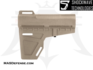 AR-15 SHOCKWAVE BLADE PISTOL STABILIZER ARM BRACE - FDE - KIT OPTIONS AVAILABLE - KAK-SHKWV-FDE