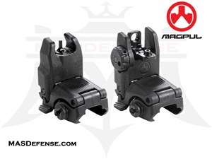MAGPUL MBUS GEN 2 FRONT & REAR SIGHT SET - MAG247 MAG248 - BLACK