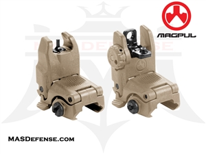 MAGPUL MBUS GEN 2 FRONT & REAR SIGHT SET - MAG247 MAG248 - FDE