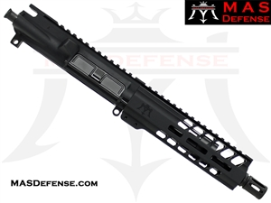 "7.5"" 300 BLACKOUT BARRELED UPPER - MAS NERO 7.25"" M-LOK RAIL"