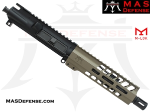 "7.5"" 300 BLACKOUT BARRELED UPPER - MAS NERO 7.25"" M-LOK RAIL - FDE"