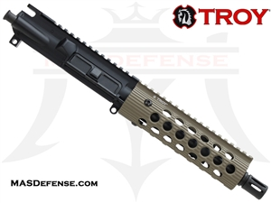 "7.5"" 300 BLACKOUT BARRELED UPPER - TROY ALPHA RAIL 7.2"" - FDE"