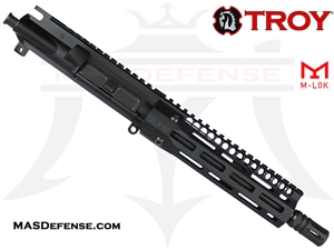 "8.5"" 300 BLACKOUT BARRELED UPPER - TROY 7.6"" SOCC-PDW M-LOK BATTLERAIL"
