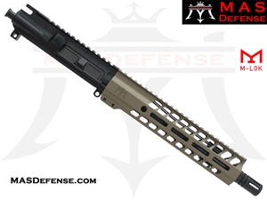 "10.5"" 5.56 / .223 BARRELED UPPER - MAS NERO 9.87"" M-LOK RAIL - FDE"
