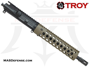 "10.5"" 5.56 / .223 BARRELED UPPER - TROY ALPHA RAIL 9"" - FDE"