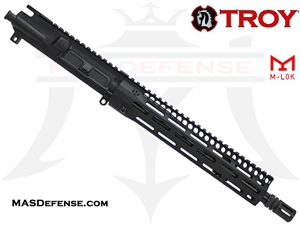 "11.5"" 5.56 / .223 BARRELED UPPER - BALLISTIC ADVANTAGE BARREL TROY INDUSTRIES 10.5"" SOCC105 BATTLERAIL M-LOK - SRAI-SR1-10BT-00"
