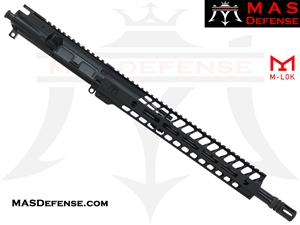 "14.5"" 300 BLACKOUT BARRELED UPPER - MAS NERO 12.62"" M-LOK RAIL"