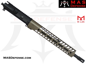 "14.5"" 300 BLACKOUT BARRELED UPPER - MAS NERO 12.62"" M-LOK RAIL -FDE"
