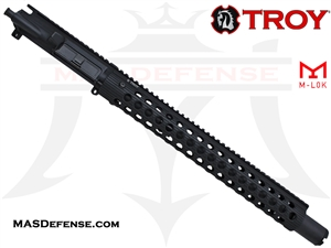 "14.5"" 300 BLACKOUT BARRELED UPPER - TROY ALPHA RAIL 15"""