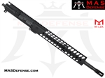 "16"" 300 BLACKOUT BARRELED UPPER - MAS NERO 12.62"" M-LOK RAIL - CARBINE GAS"