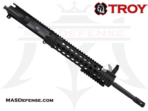 "16"" 300 BLACKOUT BARRELED UPPER - TROY ALPHA RAIL 11"" WITH FRONT SIGHT - CARBINE GAS"