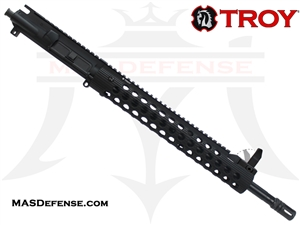 "16"" 300 BLACKOUT BARRELED UPPER - TROY ALPHA RAIL 13"" WITH FRONT SIGHT - CARBINE GAS"