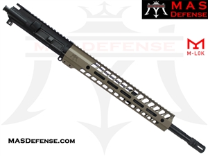 "16"" 5.56 / .223 BARRELED UPPER - MAS NERO 12.62"" M-LOK RAIL - MID LENGTH GAS - FDE"