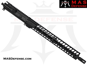 "16"" 5.56 / .223 BARRELED UPPER - MAS NERO 15"" M-LOK RAIL - MID LENGTH GAS"