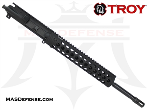 "16"" 5.56 / .223 BARRELED UPPER - TROY ALPHA RAIL 11"" - MID LENGTH GAS"