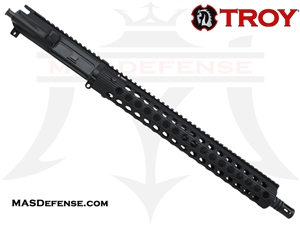 "16"" 5.56 / .223 BARRELED UPPER - TROY ALPHA RAIL 15"" - MID LENGTH GAS"