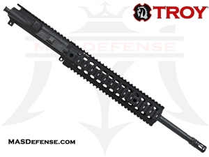 "16"" 5.56 / .223 BARRELED UPPER - TROY BRAVO RAIL 11"" - MID LENGTH GAS"