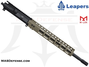 "16"" 5.56 / .223 BARRELED UPPER - UTG SUPER SLIM 13"" M-LOK MID LENGTH GAS - FDE"