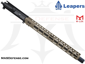 "16"" 5.56 / .223 BARRELED UPPER - UTG SUPER SLIM 17"" M-LOK MID LENGTH GAS - FDE"