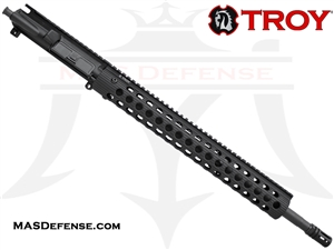 "18"" .223 WYLDE BARRELED UPPER - TROY ALPHA RAIL 15""  - RIFLE GAS"