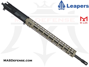 "18"" .223 WYLDE BARRELED UPPER - UTG SUPER SLIM 15"" M-LOK - RIFLE GAS - FDE"