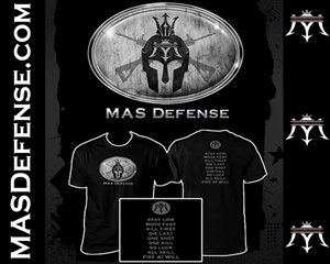 MAS DEFENSE T-SHIRT SPARTAN - BLACK - MEDIUM