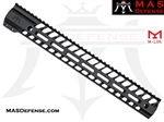 "MAS DEFENSE 15"" NERO M-LOK FREE FLOAT ***BLEM***"