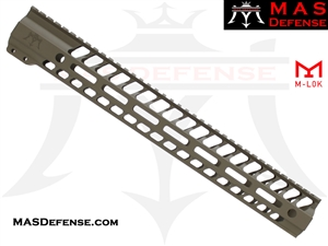 "MAS DEFENSE 15"" NERO M-LOK FREE FLOAT - FDE"