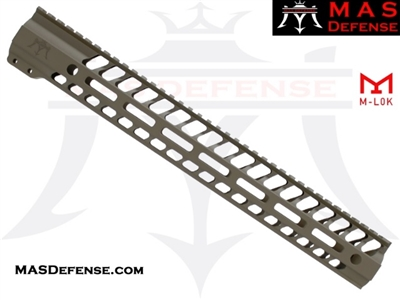 "MAS DEFENSE 15"" NERO M-LOK FREE FLOAT - FDE ***BLEM***"