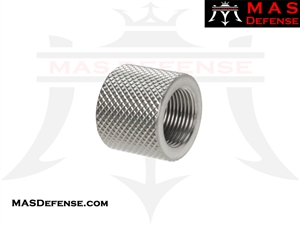 THREAD PROTECTOR KNURLED SILVER - 1/2X36 TPI