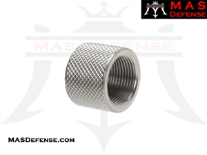 THREAD PROTECTOR KNURLED SILVER - 5/8X24 TPI