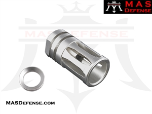 A2 FLASH HIDER STAINLESS STEEL - 1/2x28 TPI