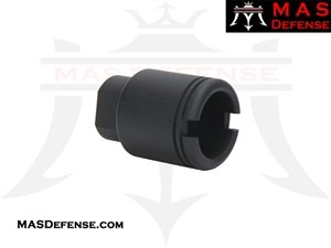 "FLASH CAN ""SLIM SHORT"" MUZZLE DEVICE - 1/2x28 TPI"