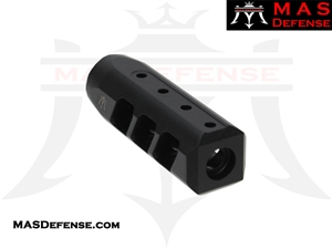 MAS DEFENSE RIOT 5.56 MUZZLE BRAKE - MELONITE NITRIDE  - 1/2x28 TPI