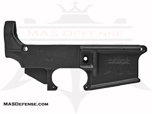 80% FORGED LOWER RECEIVER W/ MAS LOGO AR15 - ANODIZED BLACK