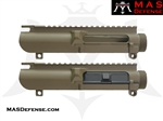 MAS DEFENSE AR-10 COMPLETE UPPER RECEIVER - NO FORWARD ASSIST - FDE