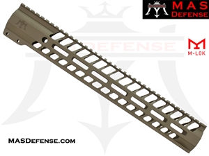 "MAS DEFENSE AR-10 .308 15"" NERO M-LOK FREE FLOAT - FDE"