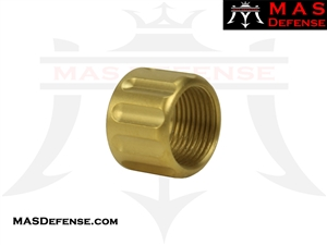 FLUTED THREAD PROTECTOR FOR GLOCK BARRELS - TiN GOLD