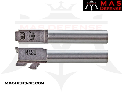 MAS DEFENSE 9MM 416R STAINLESS STEEL GLOCK 19 BARREL - MACHINE CUT
