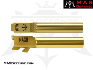MAS DEFENSE 9MM 416R STAINLESS STEEL GLOCK 19 BARREL - GOLD (TiN)