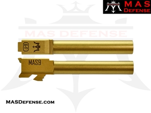 MAS DEFENSE 9MM 416R STAINLESS STEEL GLOCK 17 BARREL - GOLD (TiN) MATTE