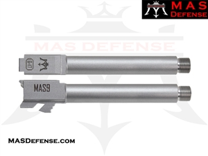 MAS DEFENSE 9MM 416R STAINLESS STEEL GLOCK 17 THREADED BARREL - MATTE